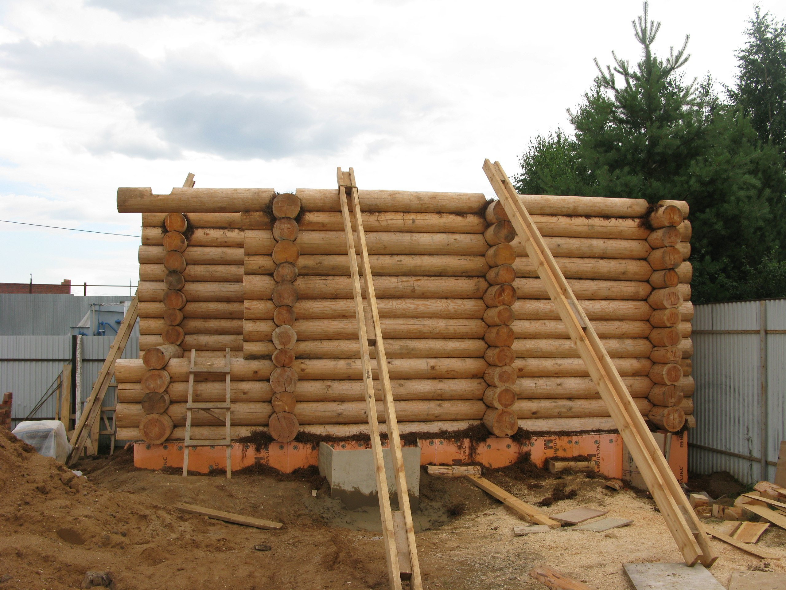 Поэтапное строительство бани